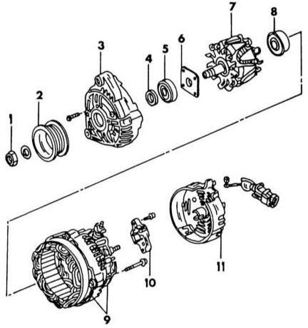 принципиальная схема работы генератора