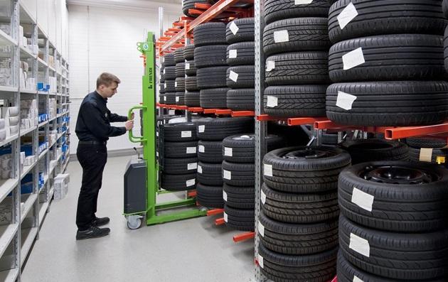 Сезонное хранение шин и колёс: особенности и правила